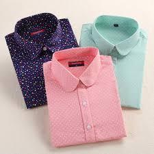 us 7 67 8 97 2016 plus size polka dot cotton women blouses