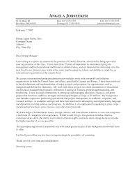 awesome collection of sample cover letter for director of