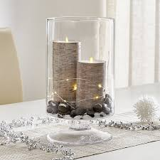 large clear hurricane candle holder crate and barrel