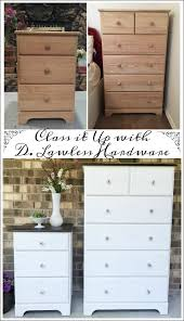 Unfinished Furniture Nightstand A Furniture Makeover Unfinished Wood Dresser And Nightstand