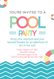 party invitation pool party invite template beneficialholdings info