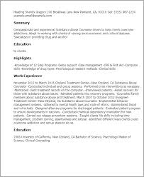 Youth Counselor Resume Sample by Top Substance Abuse Counselor Resume