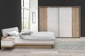 180x200 bett schlafzimmer planked eiche weiss mit bett 180x200 cm woody 77