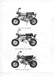 honda manual for monkey z50a mini trail