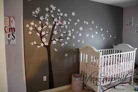 Wall Tree Decals For Nursery Contemporary Kid Bedroom Set With Brown Vinyl Tree Wall Decal