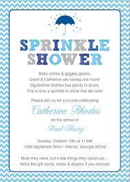 sprinkle shower blue baby sprinkle shower invitation blue grey girl chevron