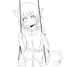 cute anime coloring pages print tags remarkable anime