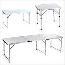6 ft portable folding table oanon 6ft portable folding 3in1 table outdoor cing aluminum table