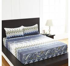 Double Bed by Buy Arcade Damask Double Bed Sheet Home By Nilkamal Blue