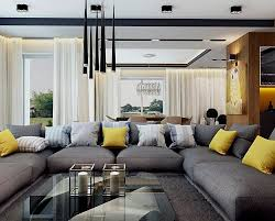 coussins canapé canapé gris moderne 55 modèles d angle ou droits foncés salons