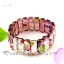 pink glass bead bracelet images Stretch foil lampwork murano glass beads bracelets jewelry wholesale jpg