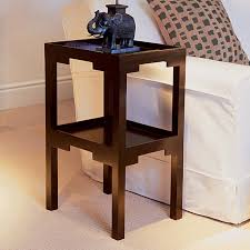 dark wood accent tables kyoto dark wood two tiered side table oka popular tables 8