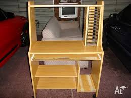 Computer Desk On Wheels Computer Desk With Cd Storage On Wheels For Sale In Blackstone