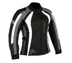 womens motorcycle clothing womens metro black white gray motorcycle jacket