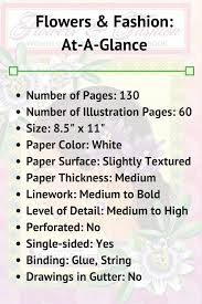 flowers u0026 fashion coloring book review coloring 101
