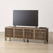 console table under tv tv stands media consoles cabinets crate and barrel stylish corner