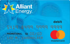 prepaid debit card alliant energy mastercard rebate card