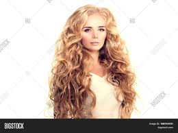 how to cut long hair to get volume at the crown model long hair blonde waves curls image photo bigstock