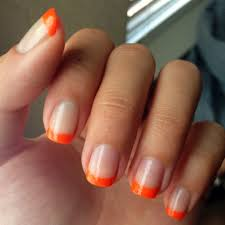 manicure ideas for orange enthusiasts
