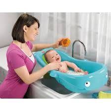 Bathing A Baby In A Bathtub Fisher Price Precious Planet Whale Of A Tub Target