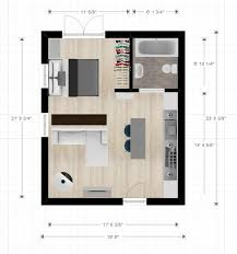House With Studio Studio Apartment Plan And Layout Design With Storage Floor