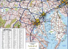Interstate Map Of The United States by Large Detailed Map Of Maryland With Cities And Towns