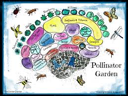 pollinator garden poster available at my etsy shop