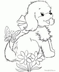 cartoon puppy coloring page for kids animal pages printables real
