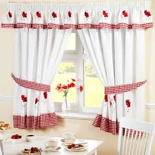 Gingham Kitchen by Poppy Gingham Embroidered Red Pelmet To Match Kitchen Curtains
