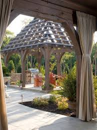 gazebo curtains patio traditional with barbecue decorative garden