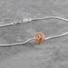 rose gold plated charm bracelet images Ball charm rose gold wire wrapped bracelet by otis jaxon silver jpg