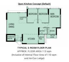 5 room floor plan buangkok edgeview bto sept 2014 iammisslucky