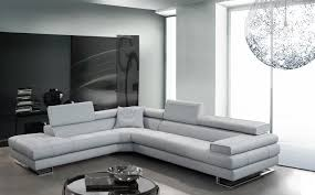 Modern Sectional Leather Sofas Beauteous White Leatherette Sectional Sofa With L Shape Design And