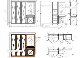 wardrobe with bar and safe dwg free cad blocks download