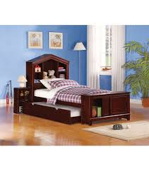 espresso twin bed twin size bed with built in nightstand and storage espresso finish
