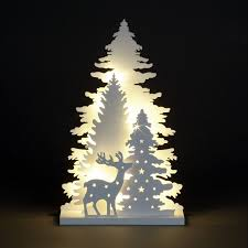 wooden christmas tree layer led wooden trees deer