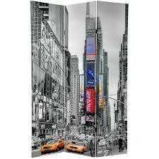 Temporary Walls Nyc by 6 Ft Tall Double Sided New York Taxi Room Divider Roomdividers Com