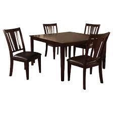 espresso dining room set iohomes 7pc simple dining table set wood espresso target