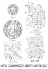 new hampshire state symbols coloring page free printable