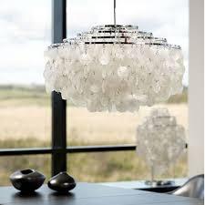 Capiz Shell Light Fixtures Lighting Serena Waterfall Capiz Shell Chandelier For Home Part 16