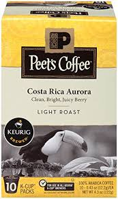light roast k cups amazon com peet s coffee costa rica aurora light roast k cup