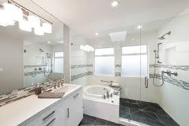 White Bathroom Lighting Sweet Transitional Bathroom Gray Tile Floor With Bathroom
