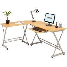 Bush Furniture Wheaton Reversible Corner Desk Corner Computer Desk Writing Table With Keyboard Shelf For Home