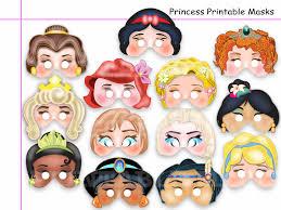 unique princess printable masks diy paper birthday kids