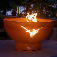 36 Fire Pit by Pit Art Longhorn Gas Burning 36