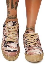 tan camo creeper sneakers dolls kill