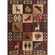 Nature Area Rugs Tayse Rugs Nature Multi 5 Ft 3 In X 7 Ft 3 In Lodge Area Rug