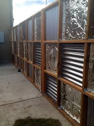 Fence Backyard Ideas by Best 25 Corrugated Metal Fence Ideas On Pinterest Metal Fence