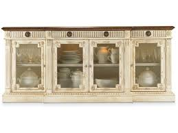hickory white dining room carrara buffet with glass doors 670 21g