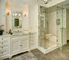 magnificent calcutta marble tile with recessed lighting in shower